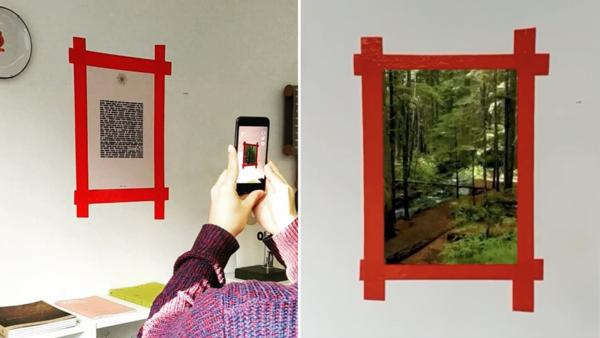 Réalité augmentée : imprimez cette feuille et collez-la au mur pour créer une fenêtre magique