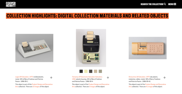 The Cooper Hewitt's Tech Collection