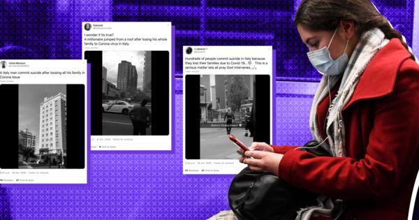 Tientallen valse berichten over verband tussen zelfmoord en coronavirus op social media