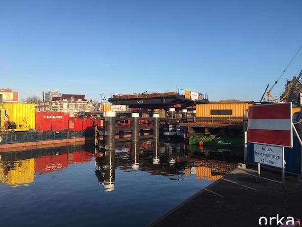 De nieuwe Wilhelminabrug op z'n plek (filmpjes en live meekijken) | De Orkaan