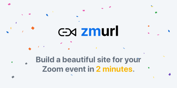 ZMURL - Landing Pages for Your Zoom Calls
