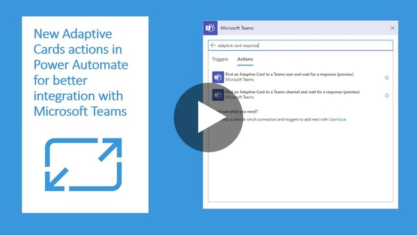 Posting Adaptive Cards to Microsoft Teams and waiting for response