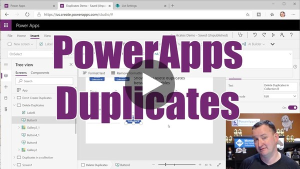 PowerApps Duplicates - Avoid, highlight, and even delete