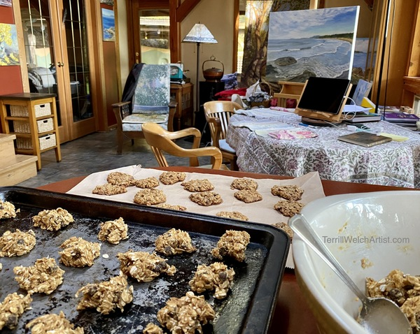 Oatmeal spice chocolate chip cookies at the home of artist Terrill Welch.