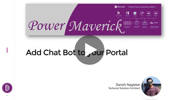 Add chat bots to your Portal or Website using Power Virtual Agent