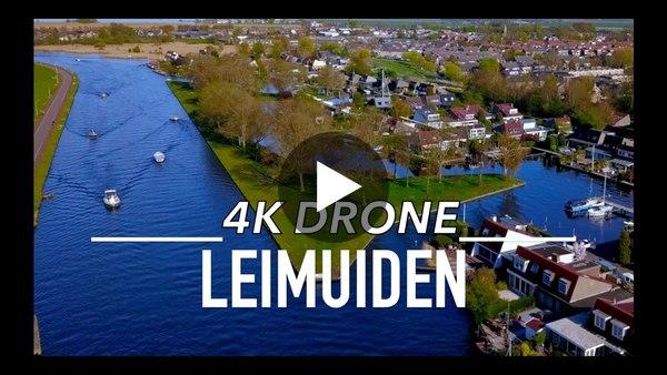Dronebeelden Leimuiden ter hoogte van de Meerewijck (video)