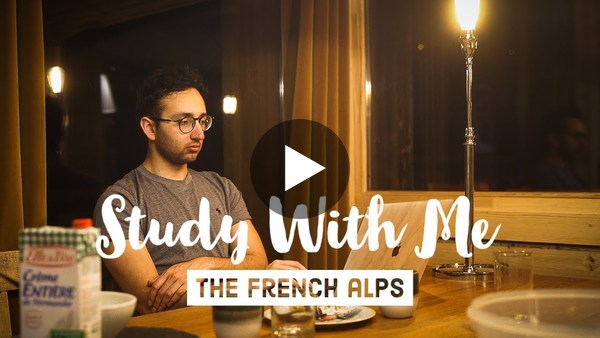 Study With Me in the French Alps - USMLE Preparation