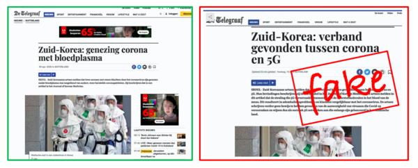 Deze screenshots zijn niet van een Telegraaf-bericht (bron: Facebook)