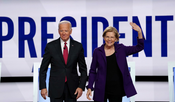 Joe Biden en Elizabeth Warren