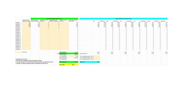 PPP vs ERC Calculator - Google Sheets
