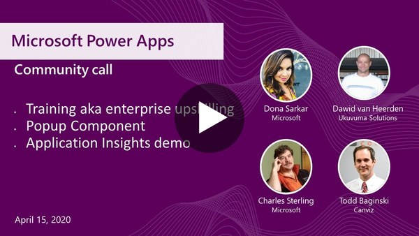 Microsoft Power Apps community call_April 2020