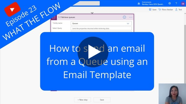 Send an email from a Queue using an Email Template