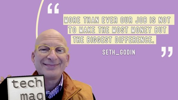Seth Godin on marketing in uncertain times, reacting vs. responding & staying rational