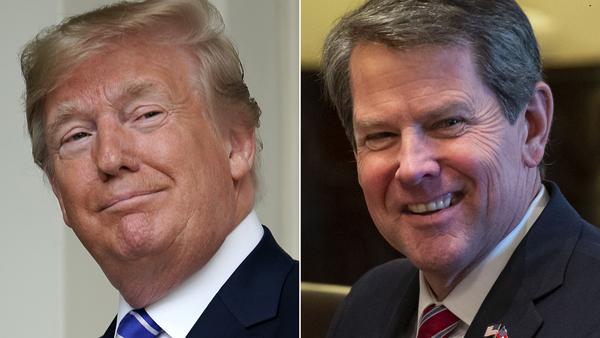 Trump en gouverneur Kemp van Georgia