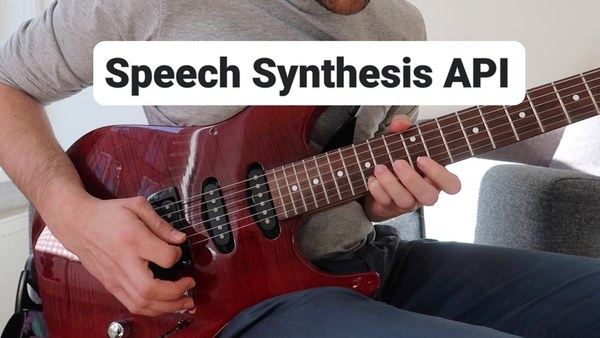 Sing a song with the JavaScript Speech Synthesis API using async/await
