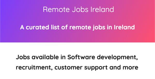 Remote Jobs Ireland
