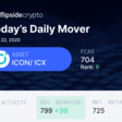 Daily Mover: ICX ▲ | Flipside Crypto