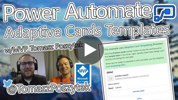 Power Automate Tutorial - Adaptive Card Templates
