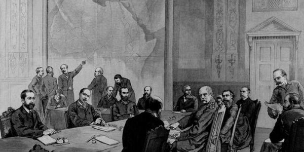 """Representatives of 13 European states, the United States of America and the Ottoman Empire converged on Berlin at the invitation of German Chancellor Otto von Bismarck to divide up Africa among themselves """"in accordance with international law."""" Africans were not invited to the meeting. The borders carved up at The Berlin Conference on 26 February 1885 persist to this day. Interestingly, and to illustrate just how big Africa is, when the Berlin Conference came to an end there were still large swathes of Africa on which no European had ever set foot. 📷 picture-alliance/akg-images"""