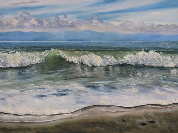 "Sold - French Beach Vancouver Island British Columbia by Terrill Welch 30""x40"""