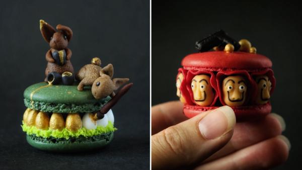 Les macarons créatifs de cette artiste de 26 ans sont uniques au monde