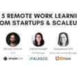 Die Top 5 Remote Work Learnings von Startups & Scaleups (Englisch)