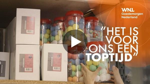 ROELOFARENDSVEEN/LEIMUIDEN - WNL: Tafeltennis-ondernemer Ronald van der Meer: 'Vraag 500 keer groter dan normaal' (video)