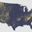 """Tom Patterson on Twitter: """"Where the mountains (and small hills) are. Dots represent the 65,067 named """"summits"""" in the contiguous US extracted from the GNIS"""