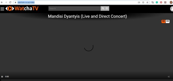 WatchaTV buffering for many users during Mandisi Dyantyi's live concert.