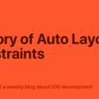 History Of Auto Layout Constraints