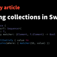 Querying Collections In Swift