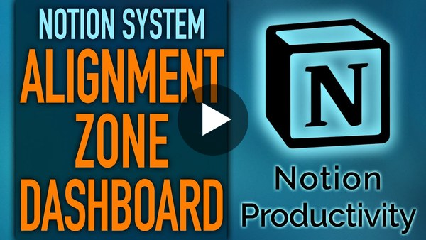 "Notion ""Alignment Zone"" Master Dashboard 