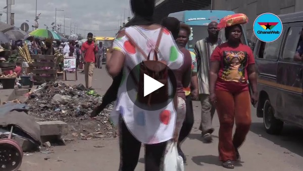 Sanitation situation in Kasoa before and after lockdown