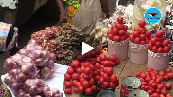 Zero social distancing at Madina market after lockdown
