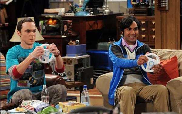 "Sheldon and Raj, characters from ""The Big Bang Theory"""
