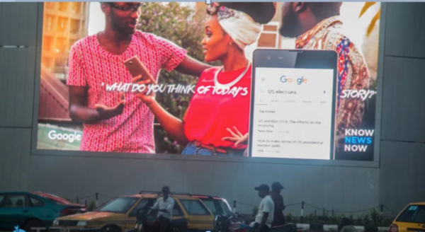Google's Street Billboard Ad, Lagos, Nigeria, 2017