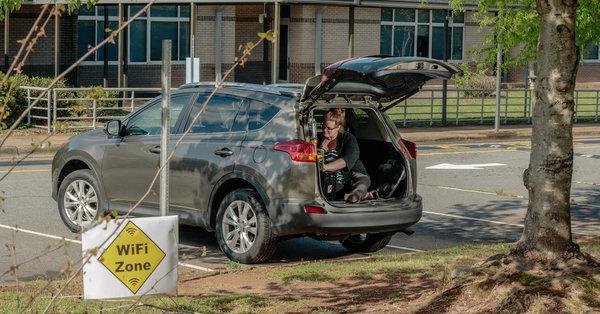 Parking Lots Have Become a Digital Lifeline