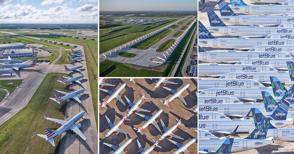Aerial Photos of Grounded Jets Across the USA