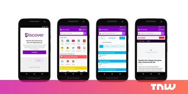 Facebook takes another stab at enabling 'free' mobile web access with its new Discover app