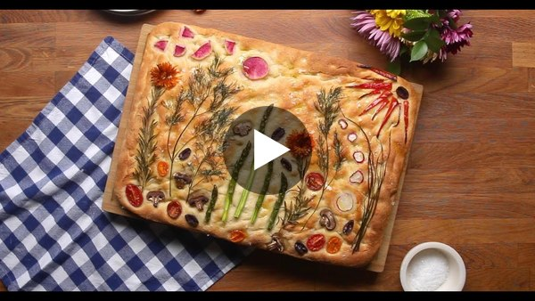 How To Make Gardenscape Focaccia • Tasty Recipes