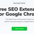 Keyword Surfer. Trouver des mots clés avec Google