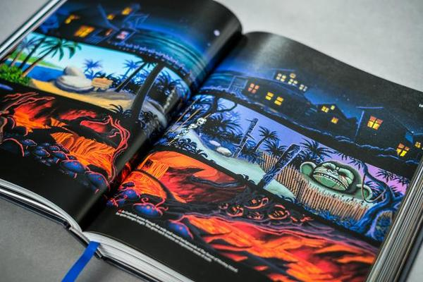 'The Art Of Point-and-Click Adventures' with artwork from The Secret of Monkey Island