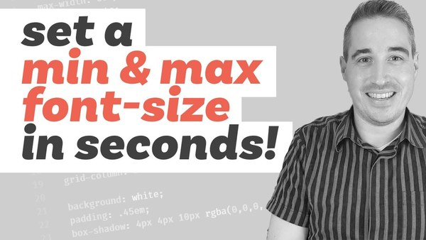min(), max(), and clamp() are CSS magic! by Kevin Powell (18min)