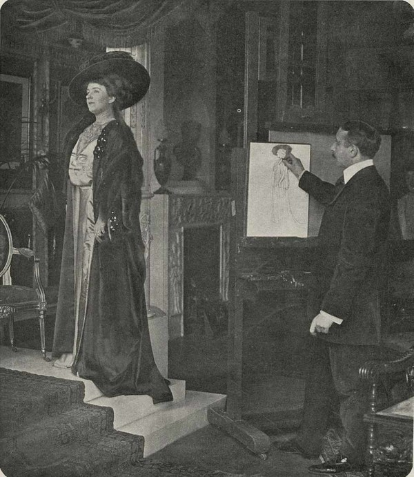 Van Welie portretteert zangeres Alys Lorraine (foto: C.M. Dewald, 1909)