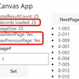PCF Dataset Paging in Model vs Canvas Apps