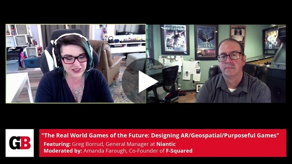 Niantic's Greg Borrud talks with noted journalist Amanda Farough of F-Squared about the future of AR gaming -- and how it'll work in the real world.