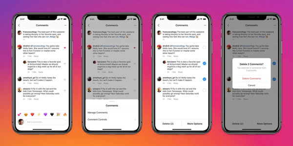 Instagram iOS update brings bulk comment deleting, control for who can mention or tag you