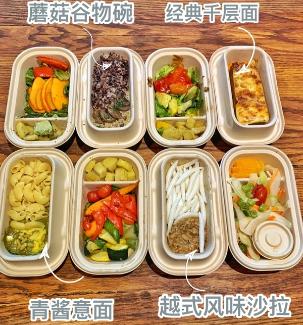 Actual pic of plant-based dishes, source: Xiaohongshu