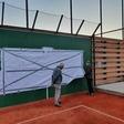 Minibaan tennisvereniging geopend door sponsor