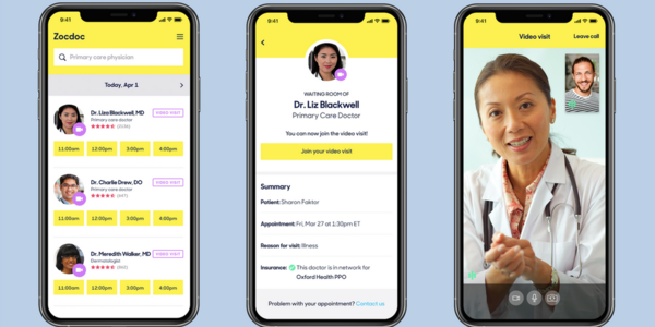 How Zocdoc pivoted to video and seized the telehealth boom
